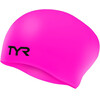 TYR Wrinkle-Free Silicone Long Hair Swimming Cap fluo pink